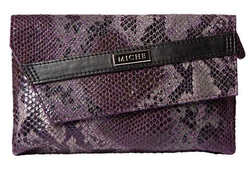 Snake Skin Purple Clutch
