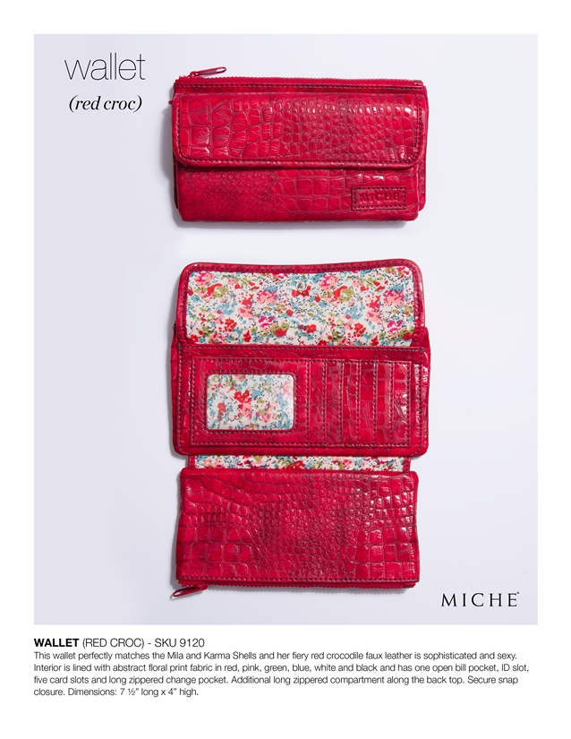 Soft Wallet - Red Croc