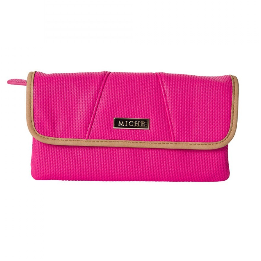 Wallet - Pink with Tan Trim